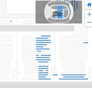 """""""ROOM FOR MORE! There were blocks of open seats available hours before the event, but organizers said about 3,300 tickets got sold."""" - DM. Photo credit to the Daily Mail."""